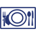 Placemat icon blu